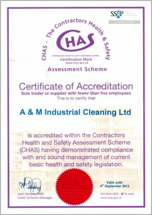 CHAS - Certification of Accreditation