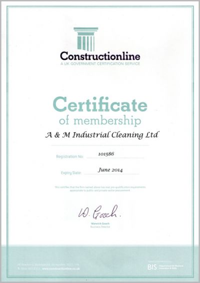 Constructionline - Certification of Membership