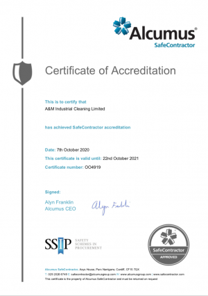 Alcumus SC - Certification of Accreditation
